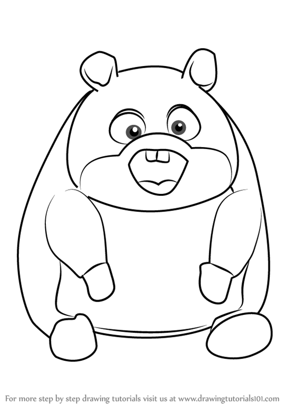 Learn How to Draw Rhino from Bolt (Bolt) Step by Step