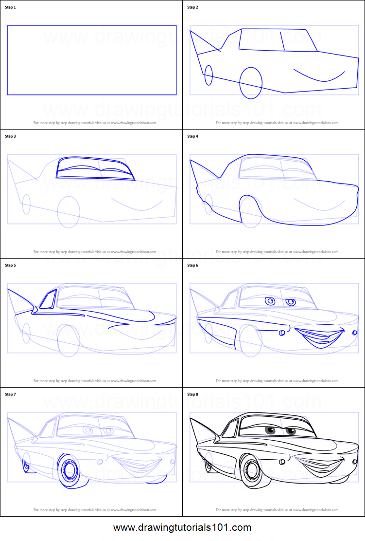 How to Draw Flo from Cars 3 printable step by step drawing ...