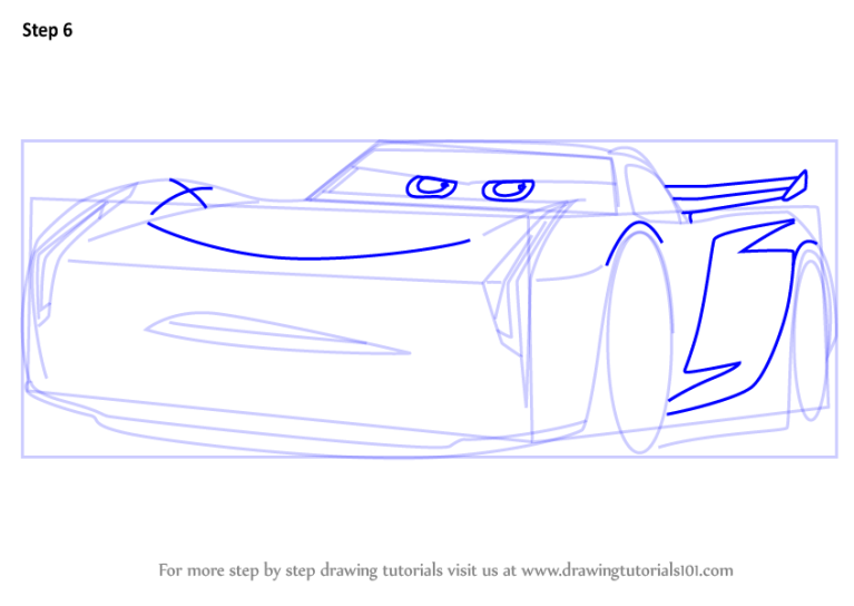 Learn How to Draw Jackson Storm from Cars 3 (Cars 3) Step ...