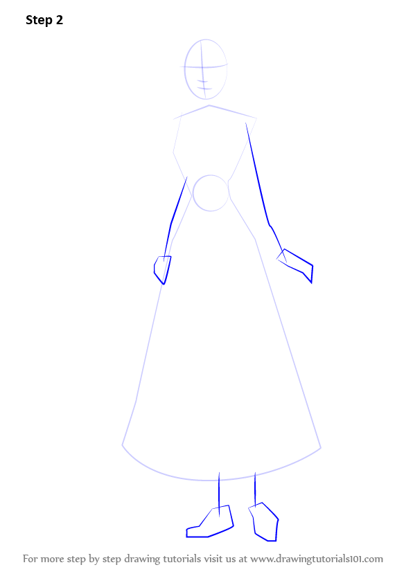Step By Step How To Draw Peasant Cinderella