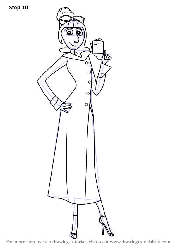 Learn How To Draw Lucy Wilde From Despicable Me