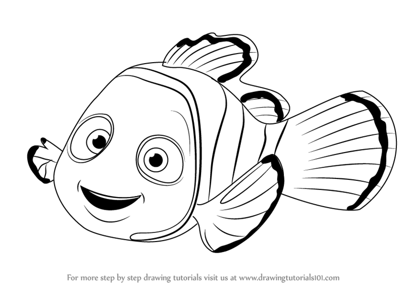 Learn How to Draw Nemo from Finding Nemo (Finding Nemo