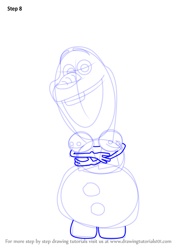 Step By Step How To Draw Olaf From Frozen Fever