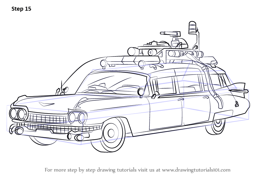 Learn How to Draw The Ghostbusters Car (Ghostbusters) Step