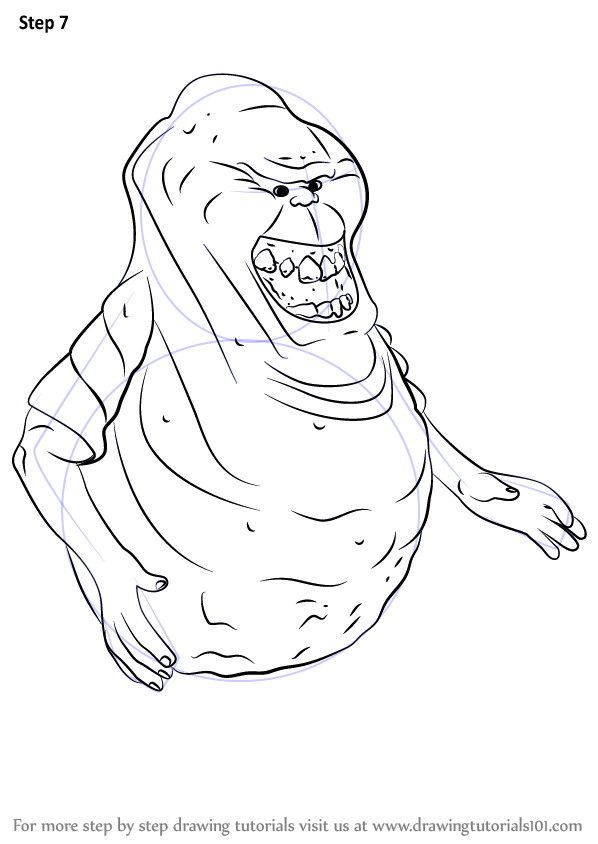 Learn How to Draw Slimer from Ghostbusters (Ghostbusters
