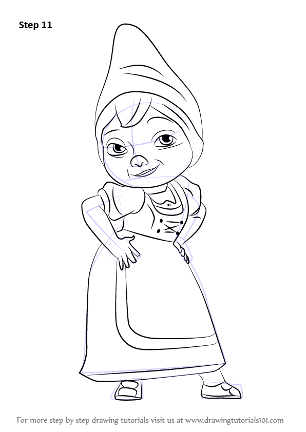 Learn How to Draw Juliet from Gnomeo & Juliet (Gnomeo