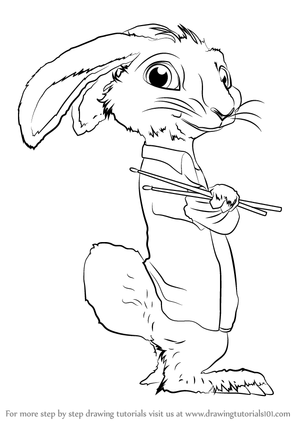 Learn How To Draw Eb From Hop Hop Step By Step Drawing Tutorials