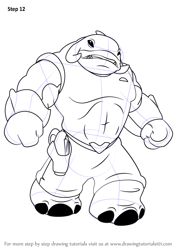 Learn How to Draw Captain Gantu from Lilo and Stitch (Lilo