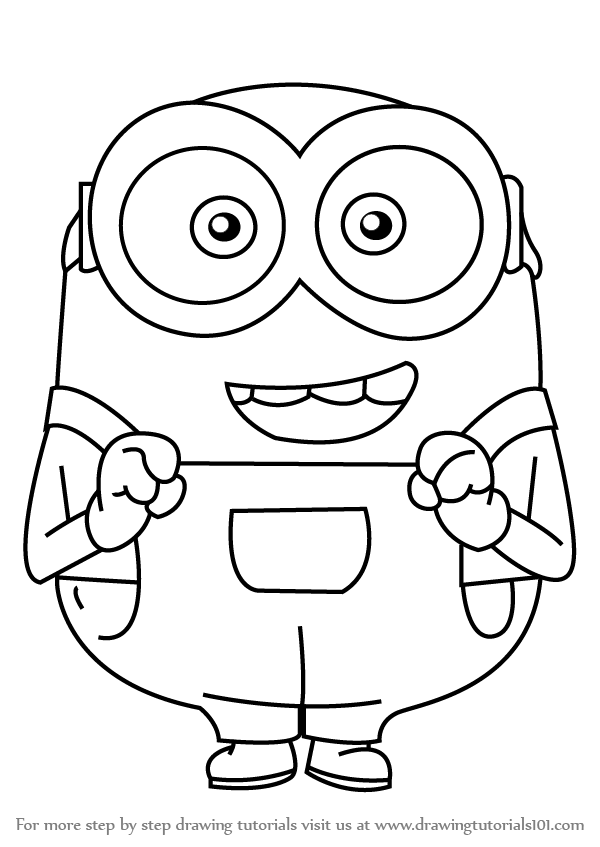 Learn How to Draw Bob from Minions (Minions) Step by Step