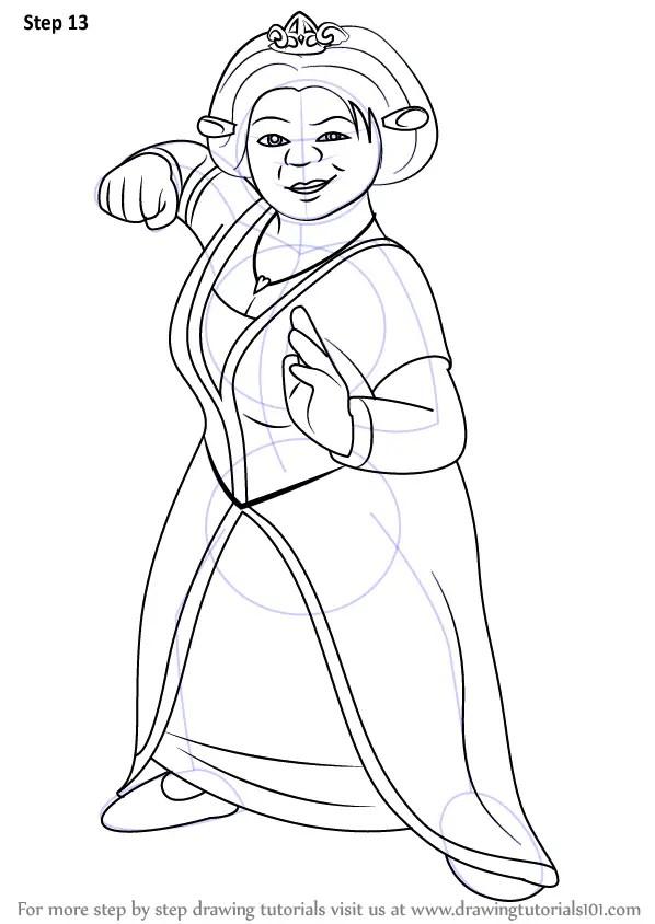 Learn How to Draw Princess Fiona from Shrek (Shrek) Step