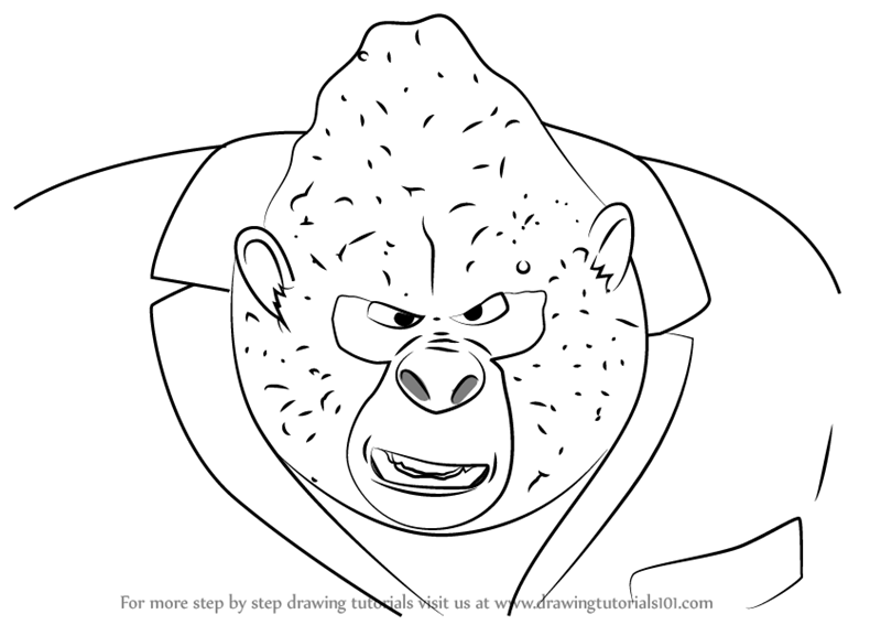 Learn How to Draw Big Daddy from Sing (Sing) Step by Step