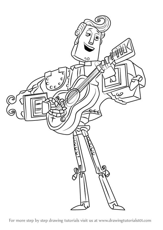Learn How to Draw Manolo Sanchez from The Book of Life