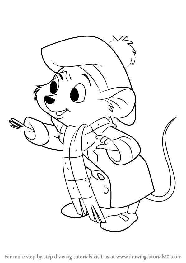 Learn How to Draw Olivia Flaversham from The Great Mouse