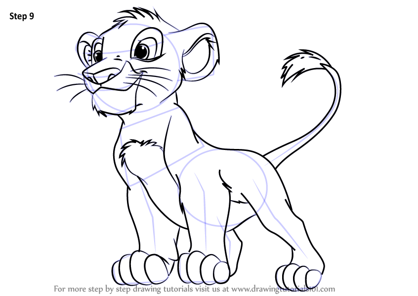 Learn How to Draw Baby Simba from The Lion King (The Lion