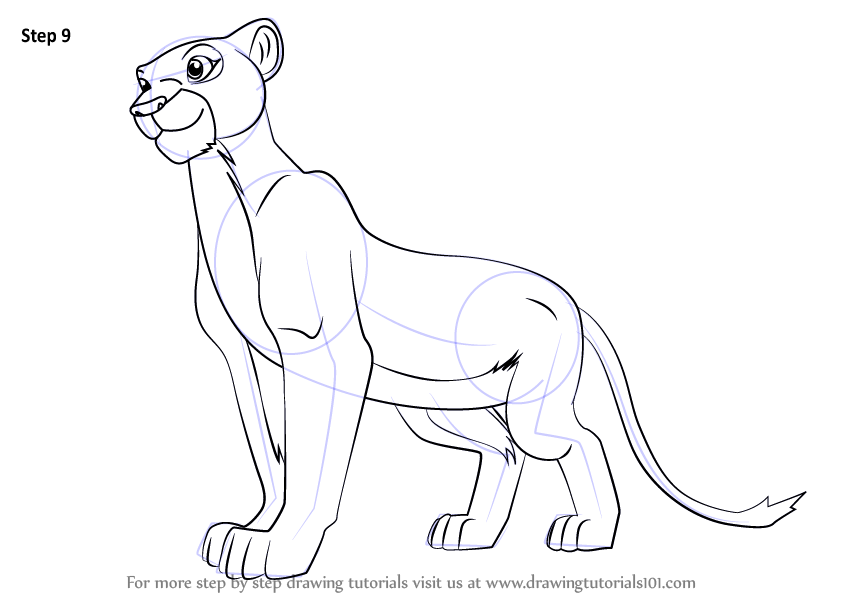Learn How to Draw Nala from The Lion King (The Lion King