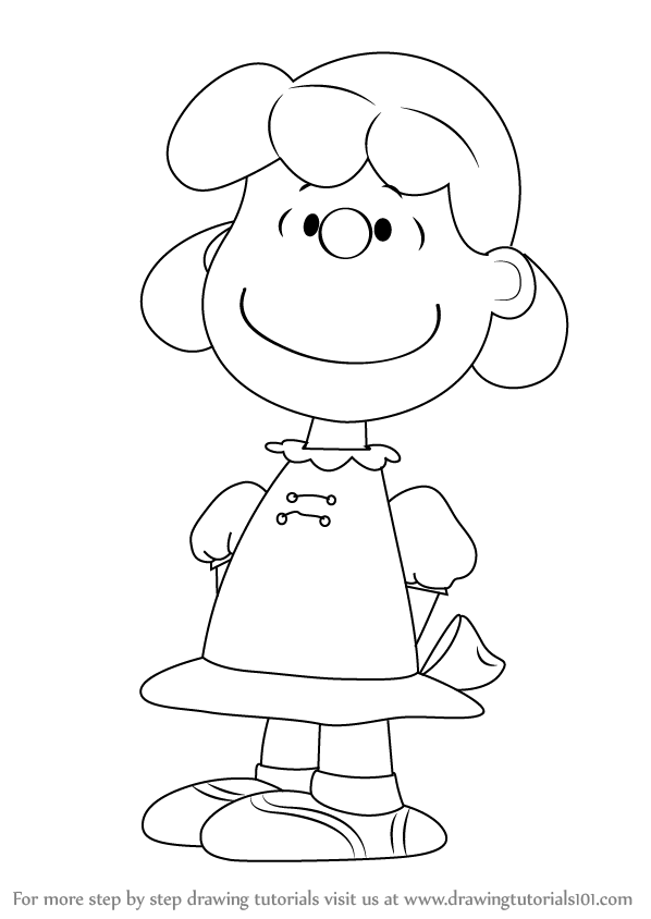 Learn How to Draw Lucy from The Peanuts Movie (The Peanuts