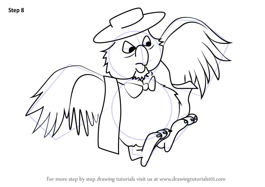 Learn How To Draw Deadeye From The Rescuers The Rescuers