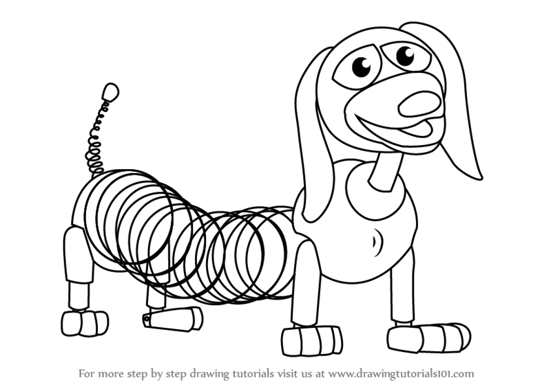 Learn How to Draw Slinky Dog from Toy Story (Toy Story
