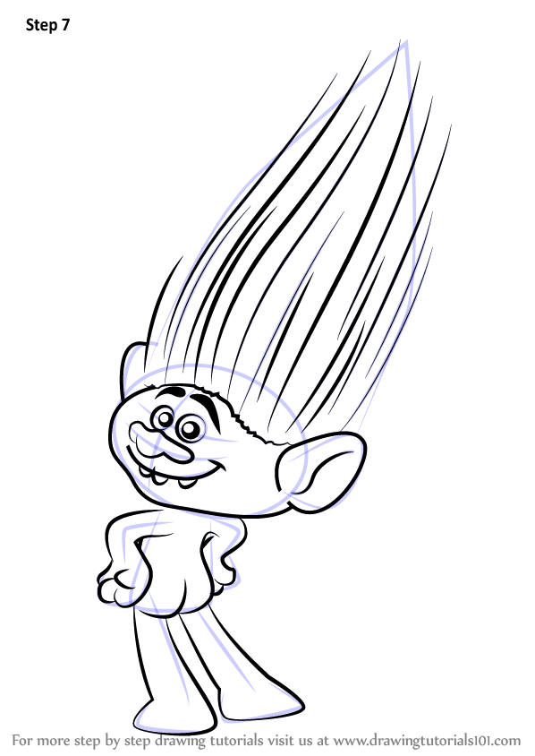 Learn How To Draw Guy Diamond From Trolls Trolls Step By