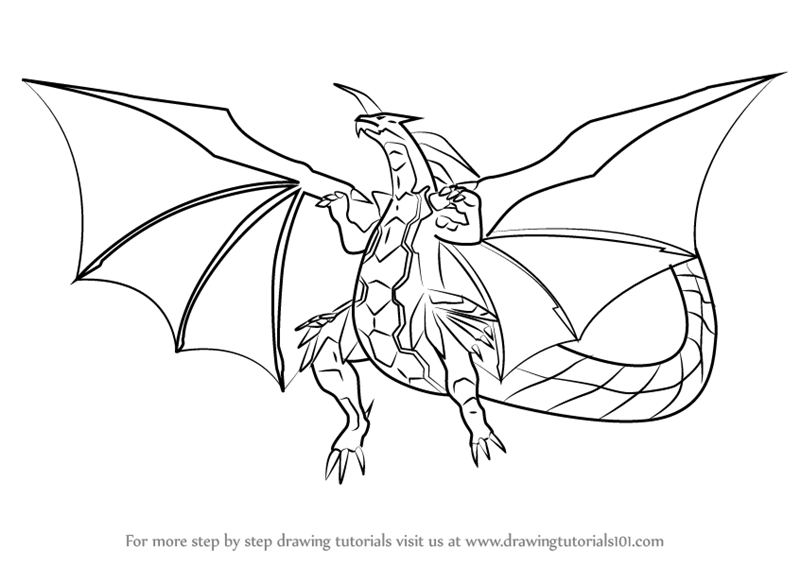Learn How to Draw Delta Dragonoid from Bakugan Battle