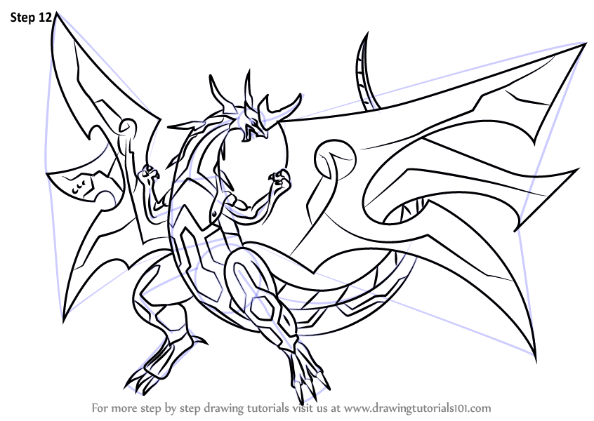 Learn How To Draw Ultimate Dragonoid From Bakugan Battle