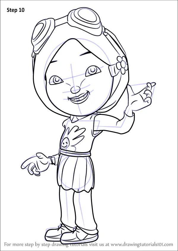 Learn How to Draw Yaya Yah from BoBoiBoy BoBoiBoy Step