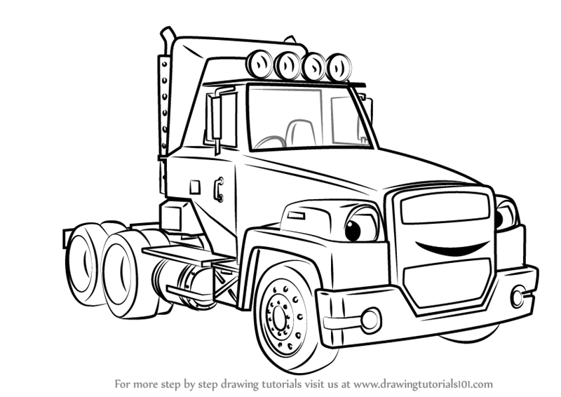 Learn How to Draw Two-Tonne from Bob the Builder 2015 (Bob