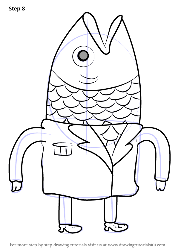 Learn How to Draw President Fishhead from Bravest Warriors