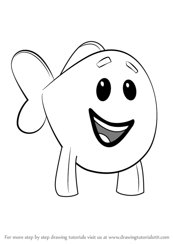 Learn How to Draw Little Fish from Bubble Guppies (Bubble