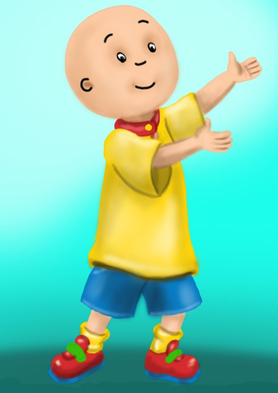 Learn How To Draw Caillou Caillou Step By Step Drawing