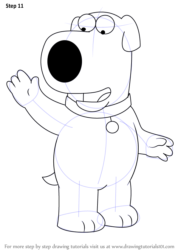 Learn How to Draw Brian Griffin from Family Guy (Family