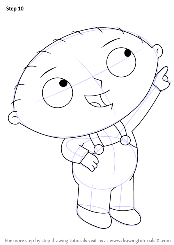 Learn How to Draw Stewie Griffin from Family Guy (Family