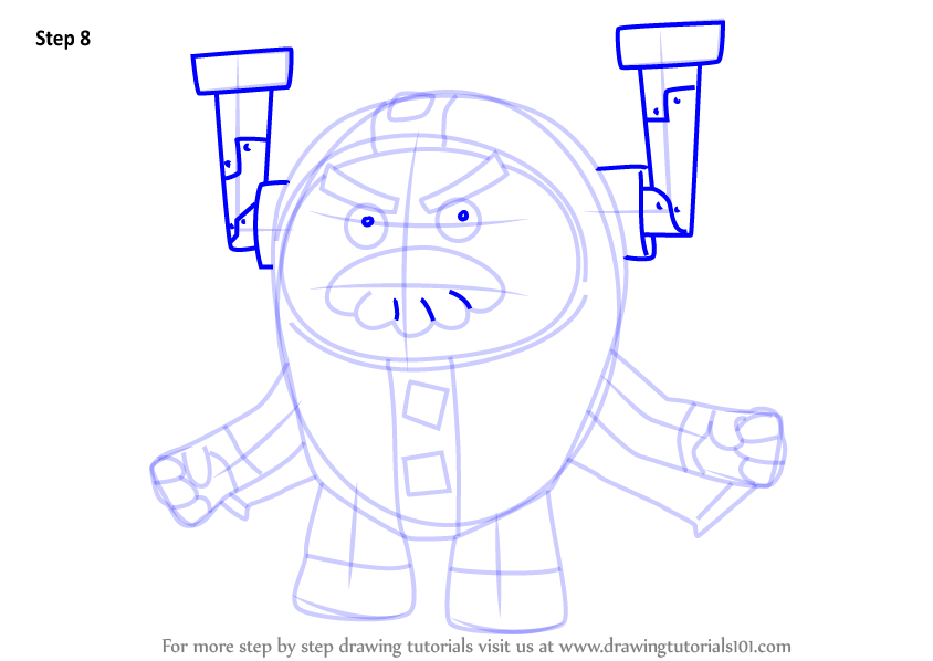 Learn How To Draw Grandmaster Glitch From Go Jetters Go