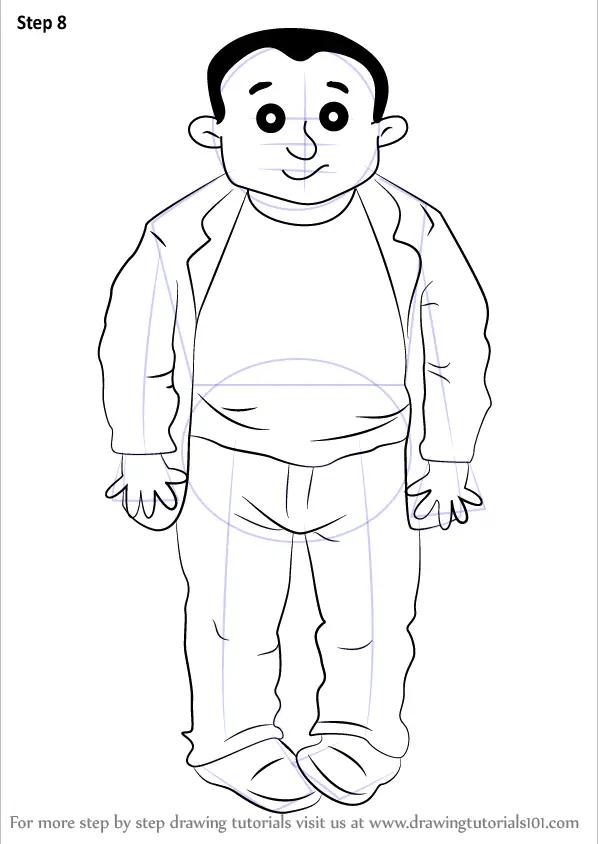Learn How to Draw Beefy Bert from Horrid Henry (Horrid