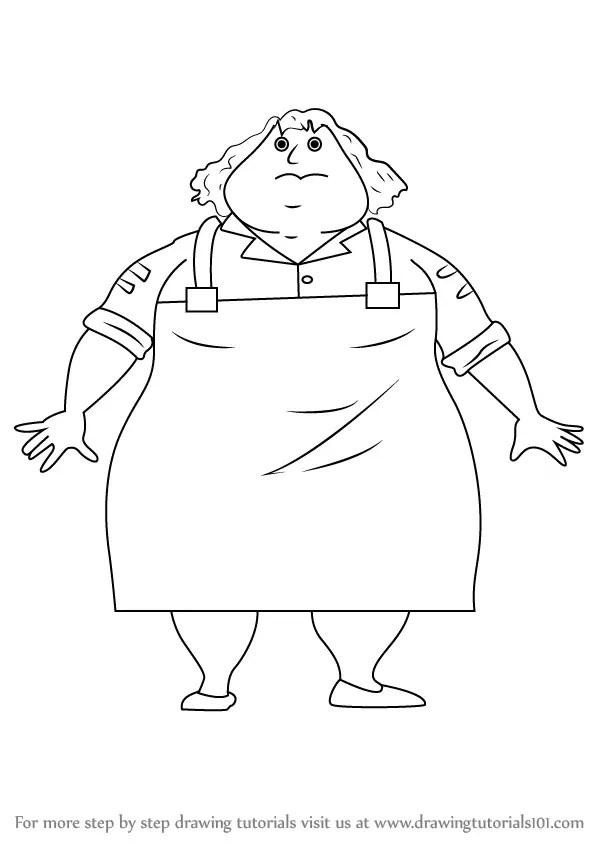 Learn How to Draw Greasy Greta from Horrid Henry (Horrid