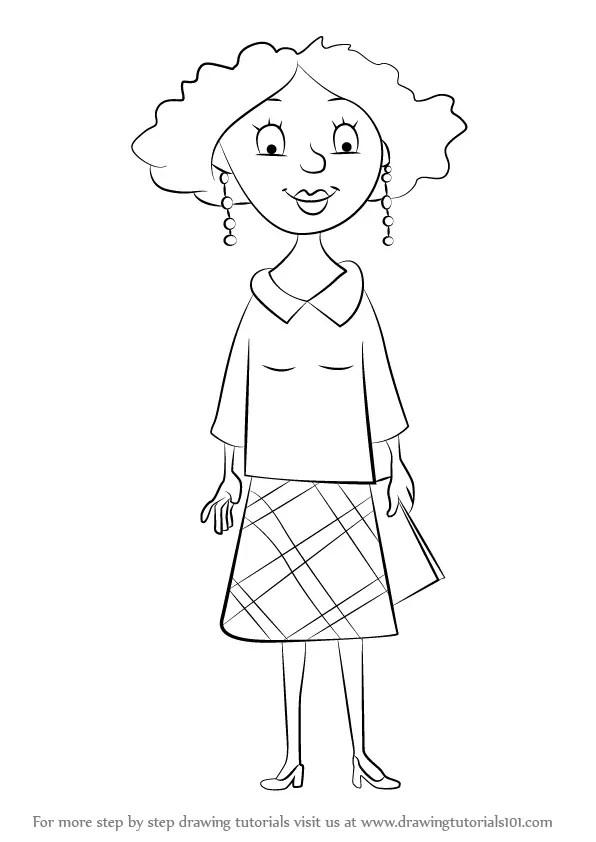 Learn How to Draw Miss Lovely from Horrid Henry (Horrid
