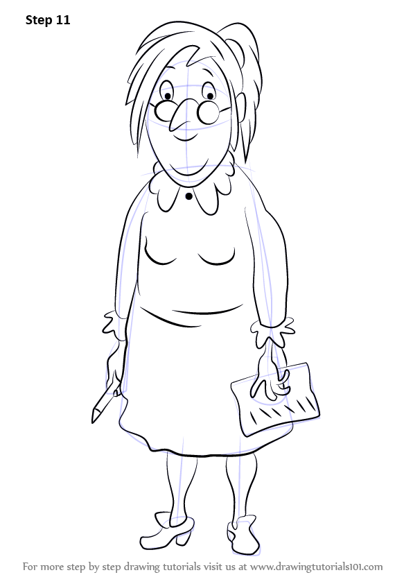 Learn How to Draw Miss Oddbod from Horrid Henry (Horrid