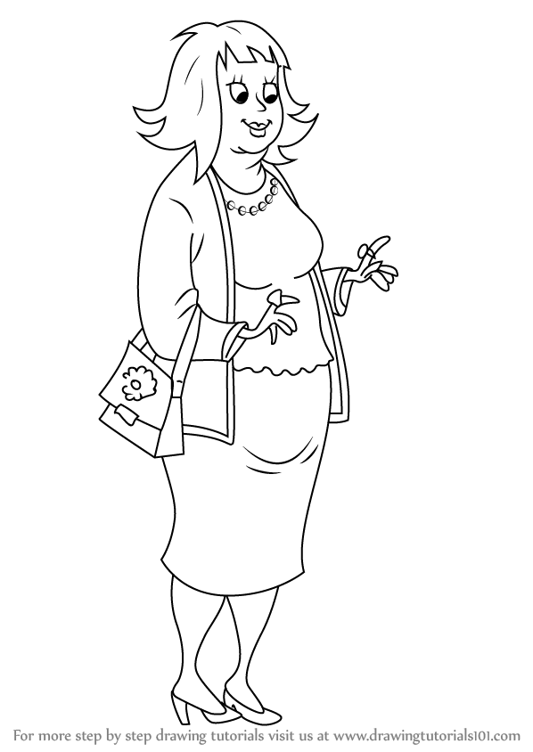 Learn How to Draw Rich Aunt Ruby from Horrid Henry (Horrid