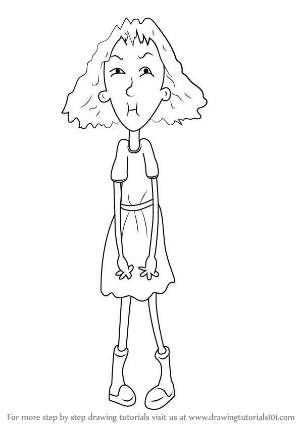 Step by Step How to Draw Sour Susan from Horrid Henry