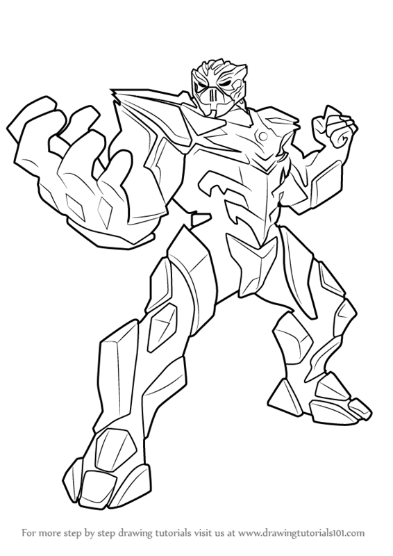Step by Step How to Draw Miles Dread from Max Steel