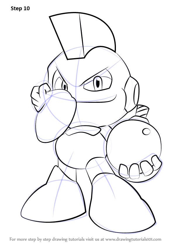 Learn How to Draw Bomb Man from Mega Man (Mega Man) Step