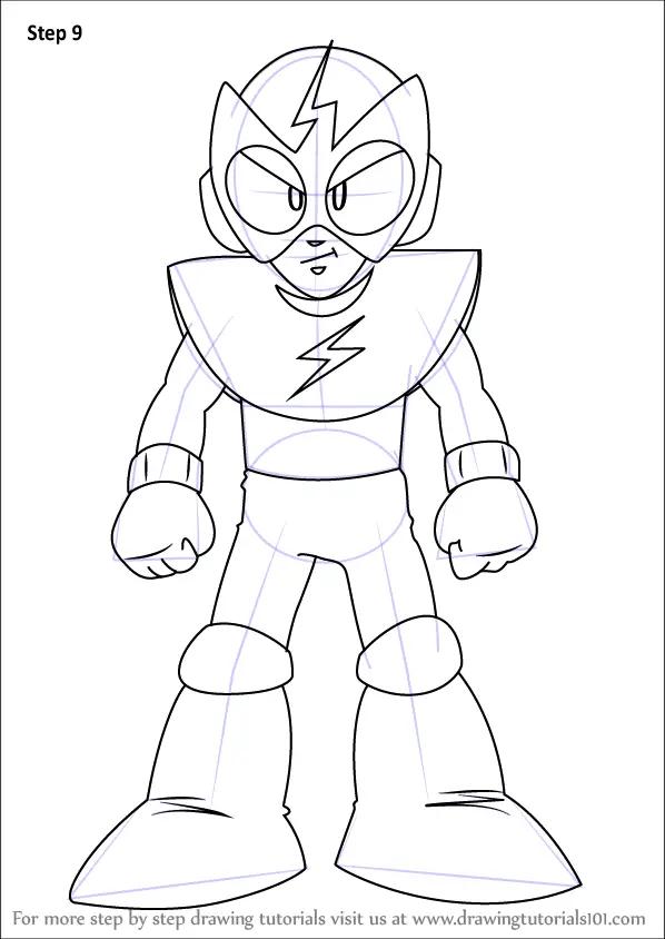 Learn How To Draw Elec Man From Mega Man Mega Man Step