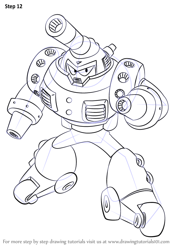 Learn How to Draw Mars from Mega Man (Mega Man) Step by
