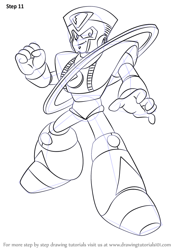 Learn How to Draw Saturn from Mega Man (Mega Man) Step by