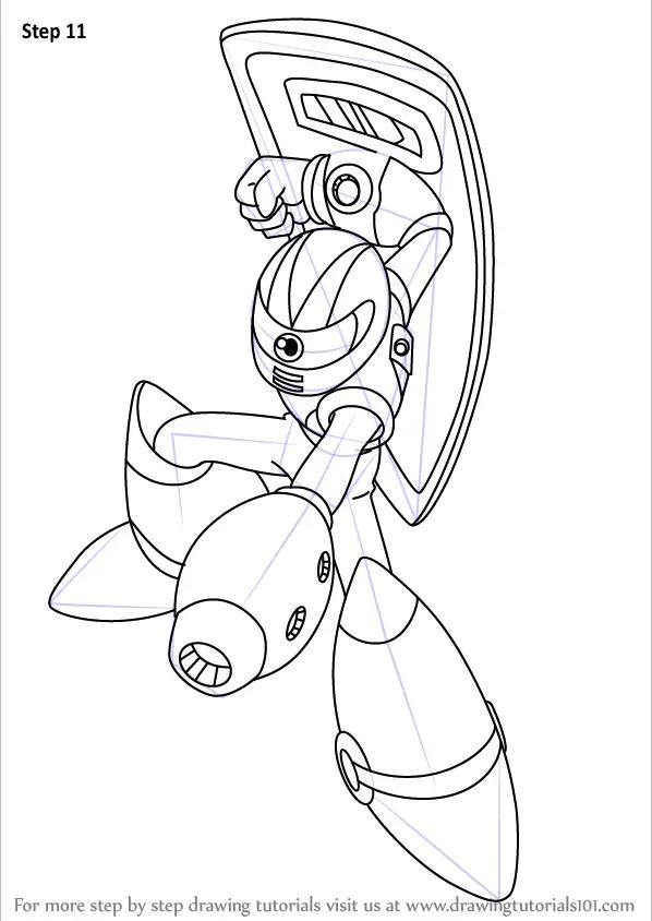Learn How to Draw Sniper Joe from Mega Man (Mega Man) Step