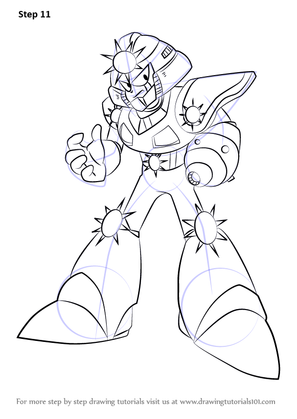 Learn How to Draw Sunstar from Mega Man (Mega Man) Step by