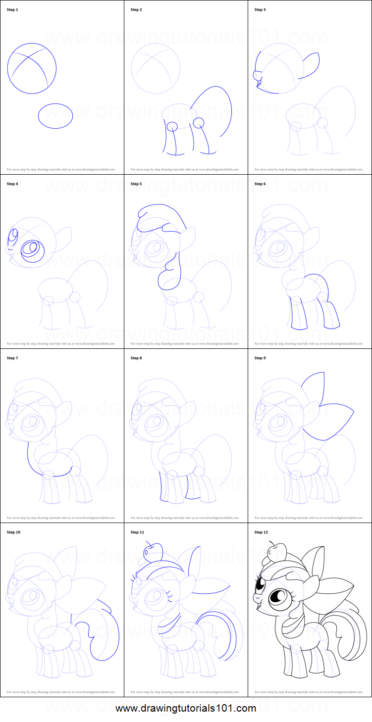 How To Draw Apple Bloom From My Little Pony Friendship Is