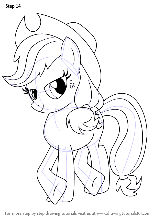 Learn How to Draw Applejack from My Little Pony