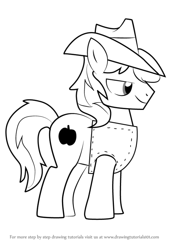 Step by Step How to Draw Braeburn from My Little Pony