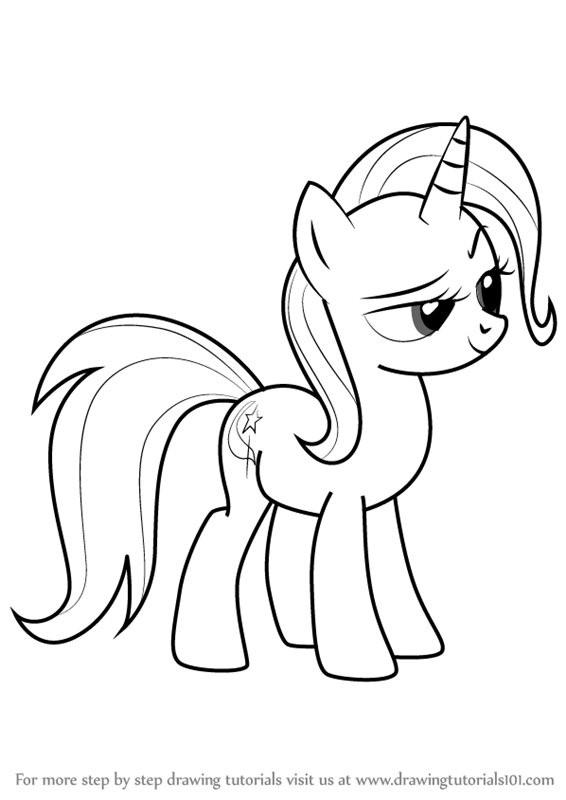 Learn How To Draw Trixie From My Little Pony Friendship Is Magic My Little Pony Friendship Is Magic Step By Step Drawing Tutorials